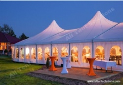 High Peak Marquee APS Tent with Crystal Chandeliers for Wedding Party