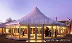 Glass Tent with double wings glass doors